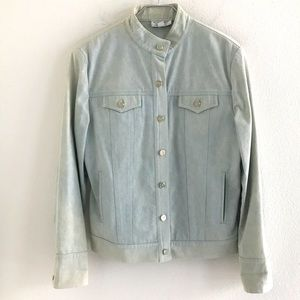 St. John Sport Denim Jacket Light Blue Size Medium